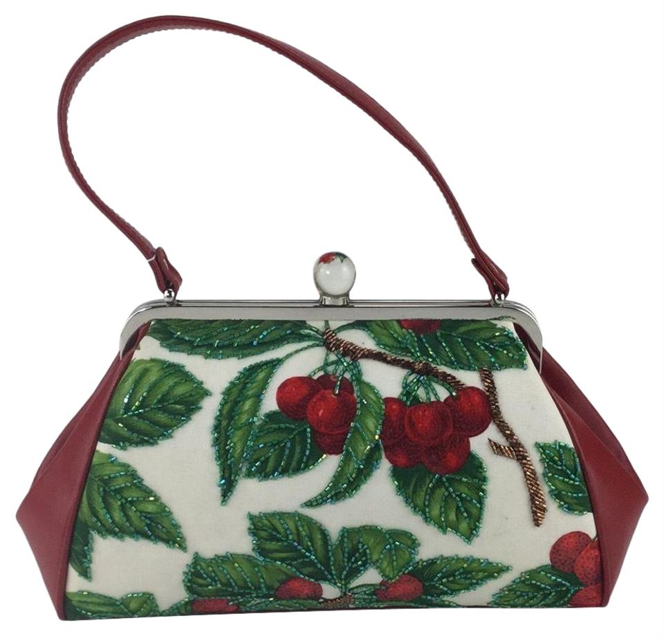 c8954044f6 Isabella Fiore Cherry Pattern Handbag fashion clothing shoes