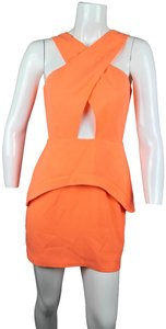 Finders Keepers Cut-out Peplum Neon Ruffle Pastel Dress