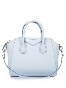 Givenchy Antigona Small Antigona Leather Satchel Tote in Baby Blue