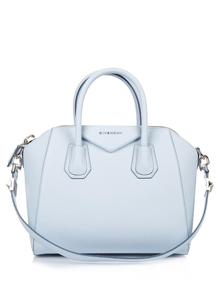 3e10e295f86c Givenchy Antigona Small Antigona Leather Satchel Tote in Baby Blue Image 0  ...