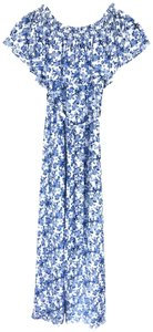 Blue White Maxi Dress by Rebecca Taylor Off Shoulder Maxi Floral Sundress