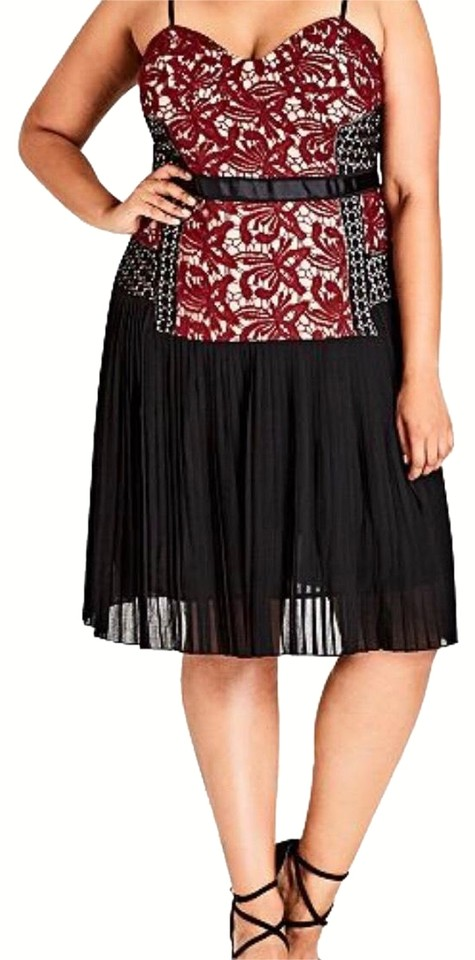 8e7c337b9184f City Chic Black   Ruby Obey Me Mid-length Cocktail Dress Size 22 ...