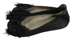 Pedro Garcia Satin Party Ballerina black Flats