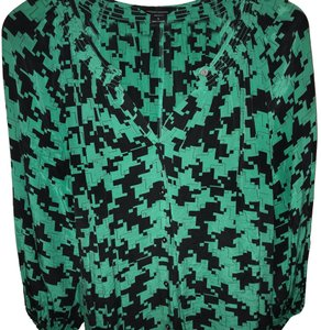 Moda International Top Green/Black