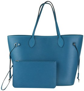 Louis Vuitton Neverfull Mm Epi Neverfull Neverfull Epi Leather Tote in Cyan