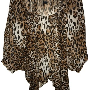 Moda International Top Leopard
