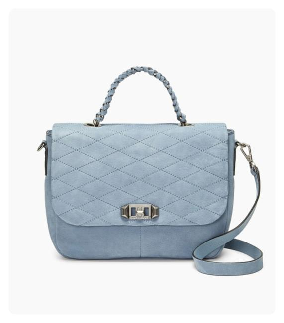 Rebecca Minkoff Jet'aime Medium Dusty Blue Nubuck Leather Messenger Bag Rebecca Minkoff Jet'aime Medium Dusty Blue Nubuck Leather Messenger Bag Image 1