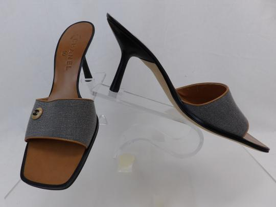 Chanel Button Kitten Gray Mules Image 10