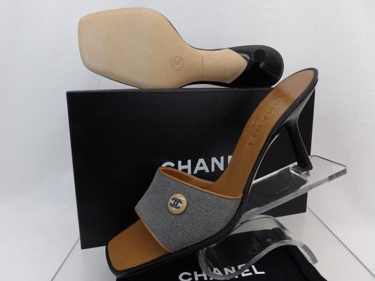 Chanel Button Kitten Gray Mules Image 5