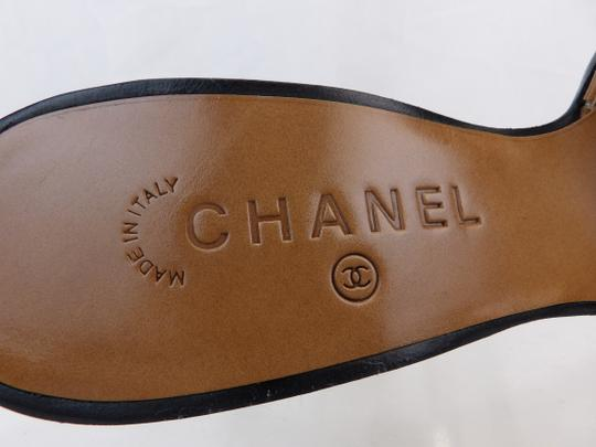 Chanel Button Kitten Gray Mules Image 7