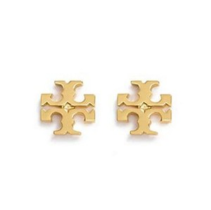 Tory Burch New Tory Burch Small T-Logo Studs GOLD on Card with Dust Cover