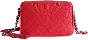 Tory Burch Fleming Distressed Cross Body Bag