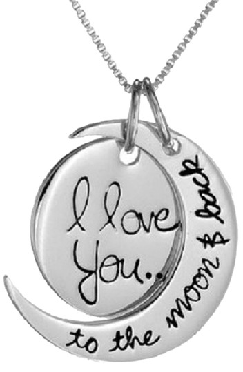 Preload https://img-static.tradesy.com/item/2444509/silver-gold-sterling-i-love-you-to-the-moon-and-back-two-piece-pendant-18-necklace-0-0-540-540.jpg
