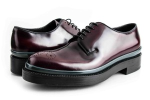 Prada Red Mens Lace-up Loafers Shoes