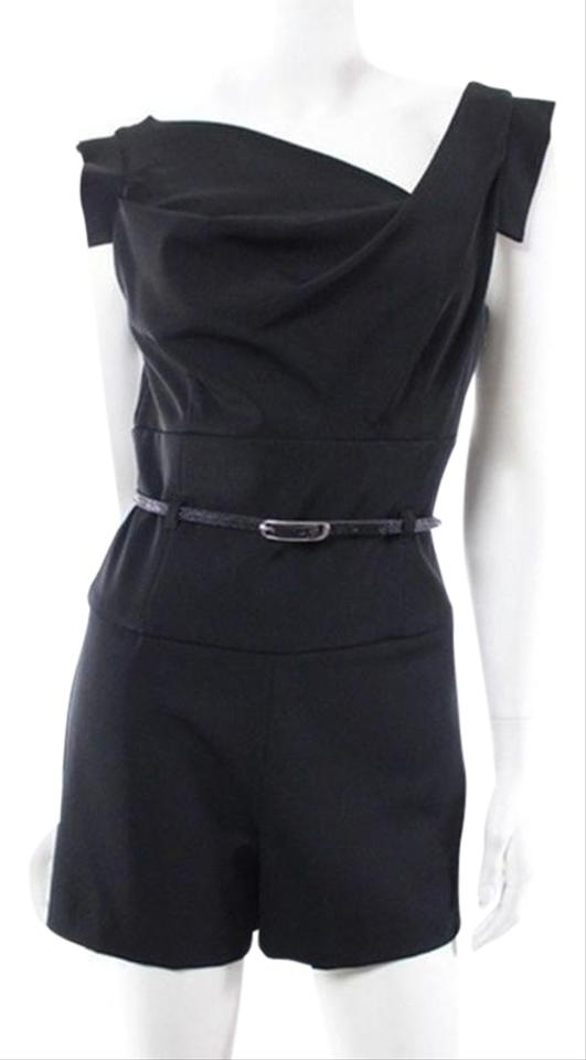 82cdd4cd2a6 Black Halo Jackie O Belted Romper Jumpsuit - Tradesy