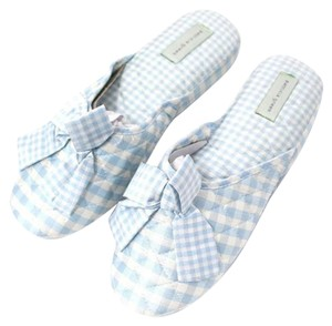 Patricia Green Gingham Check Blue & White Flats