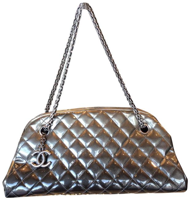 Item - Mademoiselle Purse Grey Patent Leather Tote