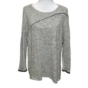 8fe9f522 Zara W/B Collection Tunic Gray Black Sweater - Tradesy