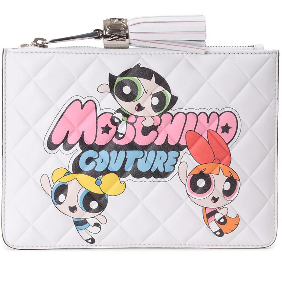 7f3b325fcb7 Moschino Powerpuff Girls Quilted Leather Clutch - Tradesy