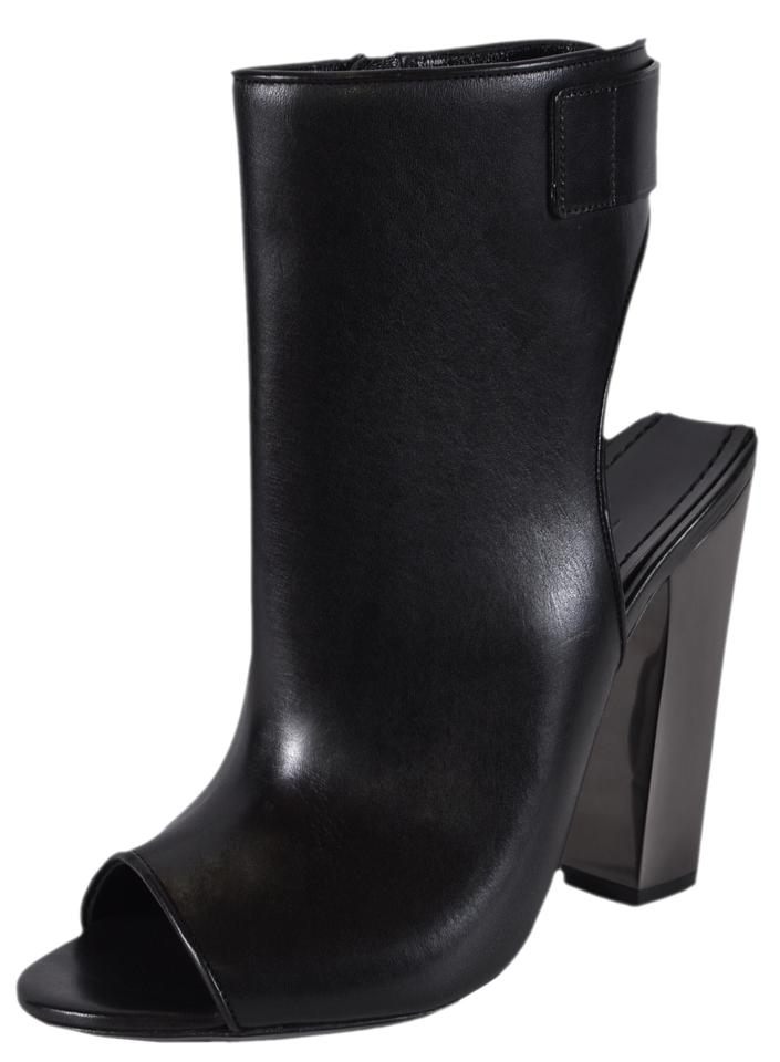Tom Ford Black New Women s W2078r Leather Zip Up Ankle Boots Booties ... bed5ccd088