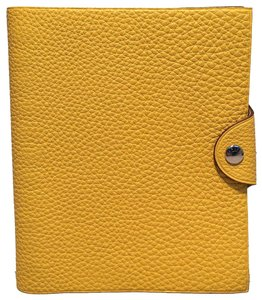 Hermès Hermes Yellow Clemence Leather Notebook
