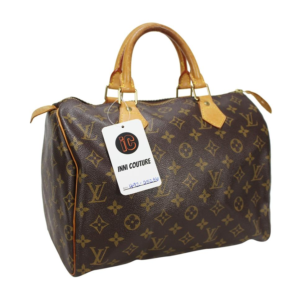 b2bbcdc9 Louis Vuitton Speedy Monogram 30 Hand Purse M41526 Brown Canvas Tote 51%  off retail