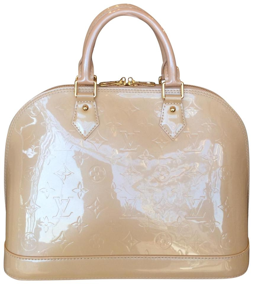 Louis Vuitton Alma Vernis Purse Beige Patent Leather Tote - Tradesy ad237a4a0e