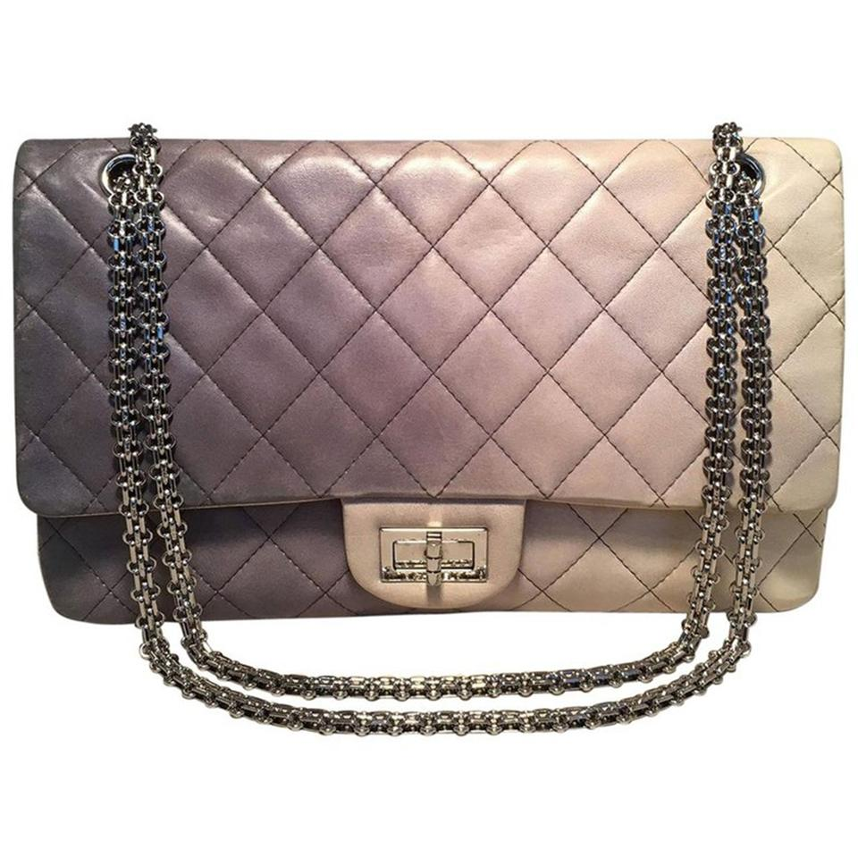 ed55ee8f0046 Chanel Classic Flap 2.55 Reissue Double Hybrid Degrade Ombre 227 Gray  Leather Shoulder Bag