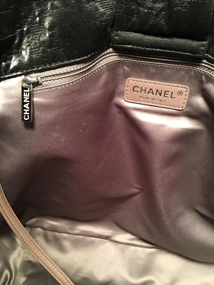 dc6a5e2598c Chanel Shopper Shopping Leather Shimmery Leather Tote in black. 123456789