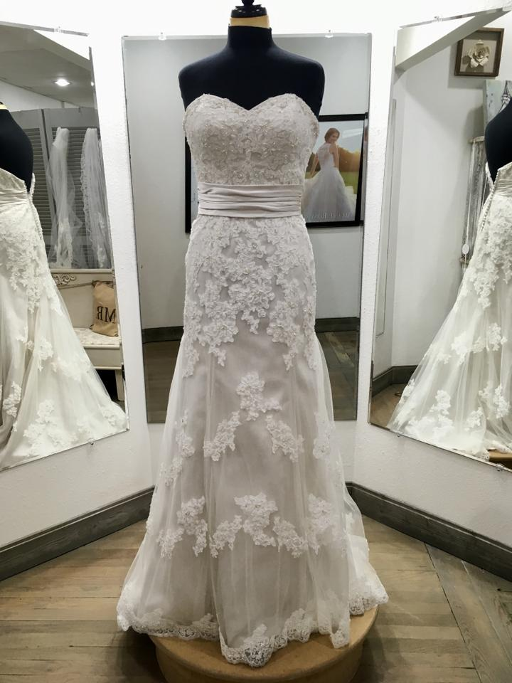 16d23fe2cf855 Sincerity Bridal Ivory Lace Tulle Satin #3722 Formal Wedding Dress Size 6  (S) ...