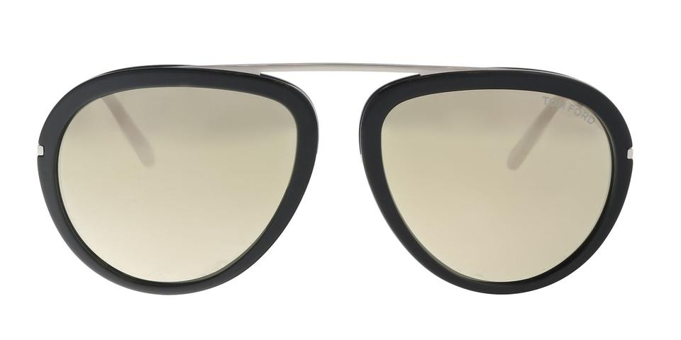 7c343bd40c36 Tom Ford Tom Ford Sunglasses FT0452S 01C Stacy Black Silver Oval Sunglasses  Image 0 ...