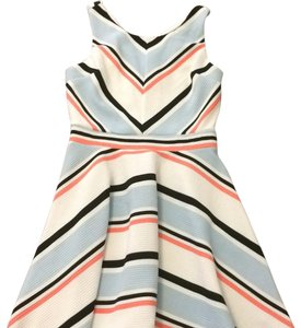 Xhilaration short dress stripes white black peach on Tradesy