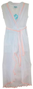 Light Blue Maxi Dress by Letarte Swimwear Partially Lined Surplice V Neck Two Front Pockets Sheer Cool + Gauzy