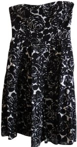 The Limited Empire Waist Floral Black/White Party Cotton Dress