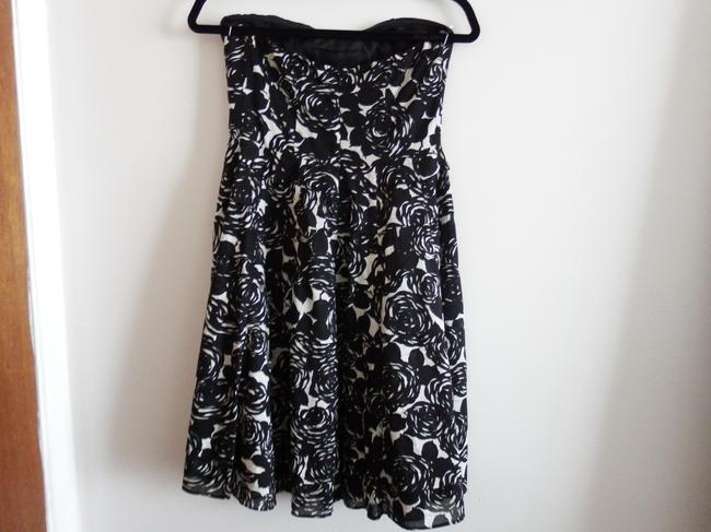 The Limited Empire Waist Floral Black/White Party Cotton Dress Image 1