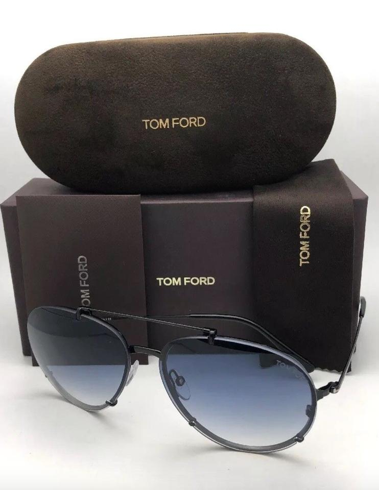 1ce754ba5c8 Tom Ford TOM FORD Sunglasses DICKON TF 527 01W 61-14 Black Aviator Frame w.  123456789101112