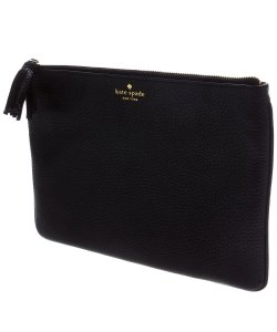 Kate Spade Makeup Leather Pouch Black Clutch