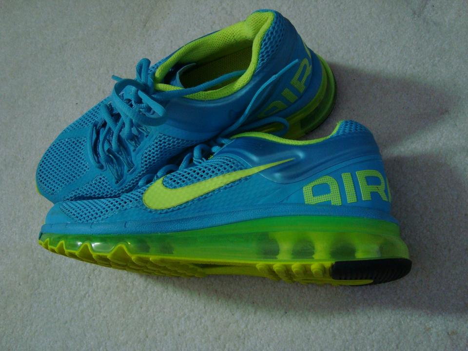 Nike Turquoise Air Max 555363 Running Fitsole 2 Mesh Sneakers Size US 8 Regular (M, B)