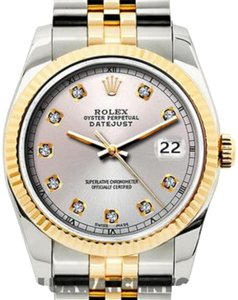 Rolex Ladies Datejust Gold S/S with Box & Appraisal Watch