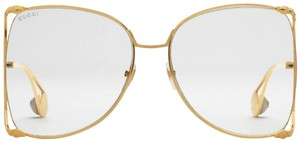 Gucci Gucci GG0252S 0252S Oversized Clear Lens Square Cutout Sunglasses