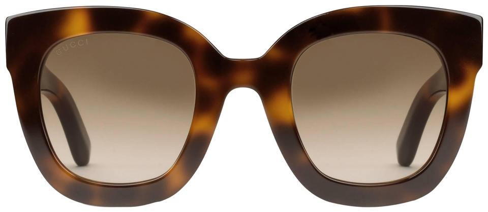 3d7df9dec3 Gucci Brown Gg0208s 0208s Oversized Square with Star Sunglasses ...