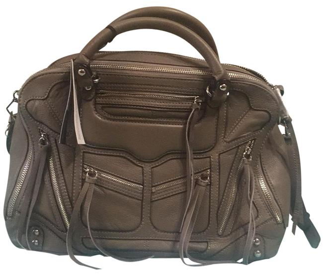 Item - Jealous Tri Zip Grey Leather Satchel