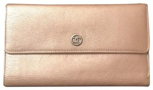 Chanel Chanel long wallet metallic leather
