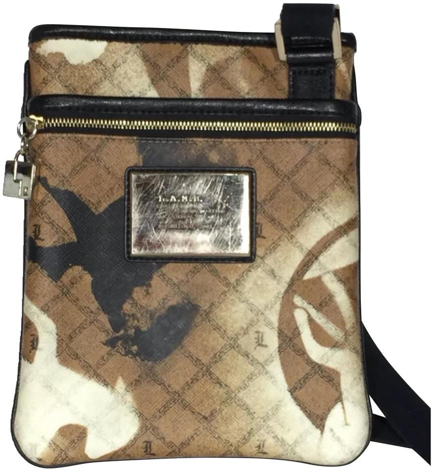 Purse Tan Multi Cross Body Bag
