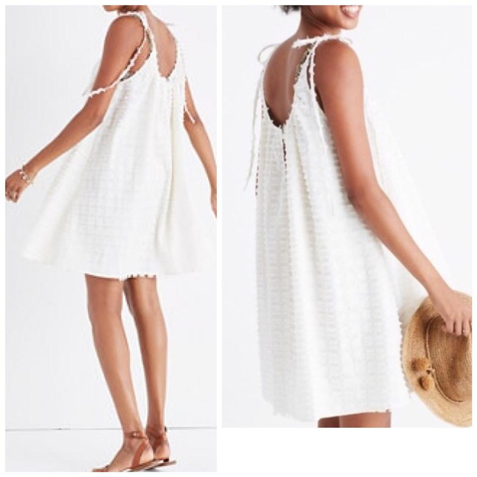 b39885a942b Madewell White Havana Cover Up Short Casual Dress Size 12 (L) - Tradesy