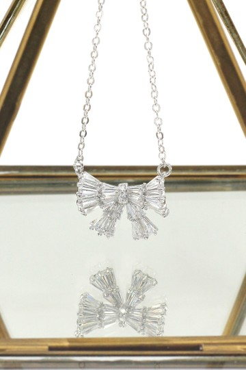 Ocean Fashion Cute Bow Crystal Ring Necklace Set