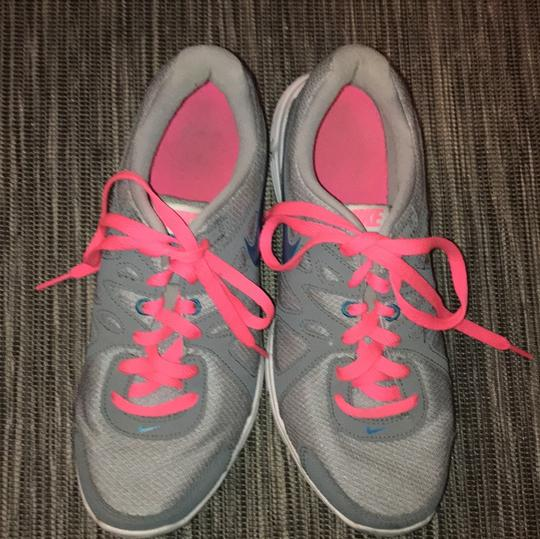 Nike Hot Pink and light grey, blue swoosh Athletic