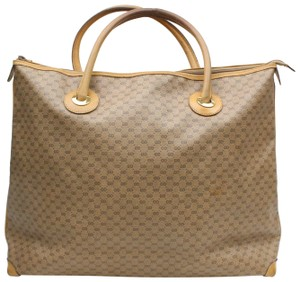 34b337652dd Gucci Monogram Gg Large Tote 868957 Beige Coated Canvas Weekend ...
