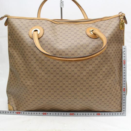 Gucci Duffle Gym Boston Mens Tote Beige Travel Bag