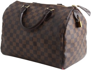 Louis Vuitton Damier Ebene Speedy 30 Tote in Brown
